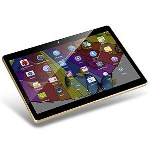YellYouth Tablet Android de 10 pulgadas con ranuras para tarjetas Sim, 10,1 pulgadas, 4 GB RAM 64 GB ROM Octa Core 3G desbloqueado GSM teléfono Tablet PC con WiFi Bluetooth GPS, Negro
