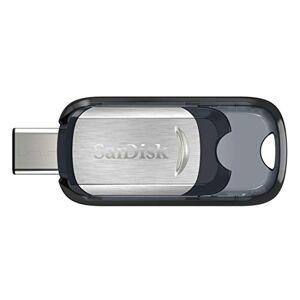 SanDisk Ultra Unidad Flash USB 32 GB USB Tipo C 3.0 (3.1 Gen 1) Negro, Plata Memoria USB (32 GB, USB Tipo C, 3.0 (3.1 Gen 1), 150 MB/s, Deslizar, Negro, Plata)