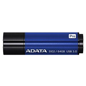 ADATA AS102P-64G-RBL USB Flash Drive Memoria USB (USB 3.0, Mac OS X 10.5 Leopard, Mac OS X 10.6 Snow Leopard, Mac OS X 10.7 Lion, Mac OS X 10.8 Mountain Lion, Cap, Blue, Aluminium, Metal)