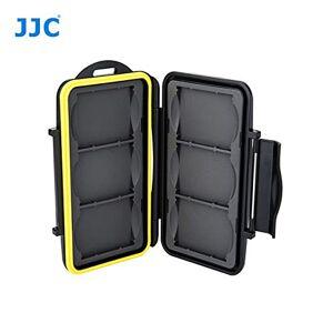 JJC MC-CF6 Funda rígida para tarjeta de memoria, para 6 tarjetas CF con cerradura, resistente al agua