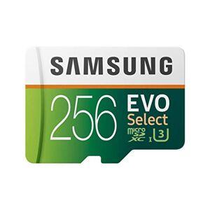 Samsung Electronics EVO Select Tarjeta de Memoria microSDXC UHS-I U3 (256 GB, 100 MB/s, Full HD y 4K UHD con Adaptador)