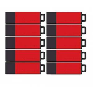Centon Paquete de datos USB 2.0 de alta calidad, 64 GB, Rojo, Paquete de 5