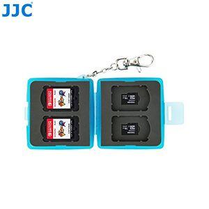 ESTUCHE PARA MEMORIAS 4NS, 4MSD JJC Material: Plástico y goma- Capacidad del estuche: 4 NS, 4 MSD -Color Azul