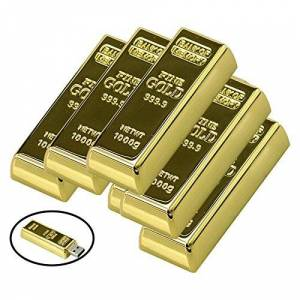 Civetman 32GB USB 2.0 Flash Drive Metal Bullion Gold Bar Forma Pendrive Memorias Memoria USB