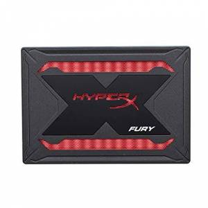 "Kingston HyperX Fury RGB SSD 240GB SATA 3 2.5"" Solid State Drive Black Case with Multi-Color RGB SHFR200/240G"