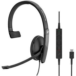 Sennheiser SC 130 USB-C Monoaural Diadema Negro Auriculares con micrófono (Media/Comunicación, Monoaural, Diadema, Negro, Alámbrico, USB Tipo C)