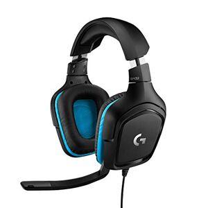 Logitech G432 Biauricular Diadema Negro, Azul Auriculares con micrófono (Consola de Videojuegos + PC/Videojuegos, 7.1 Canales, Biauricular, Diadema, Negro, Azul, Cuero)