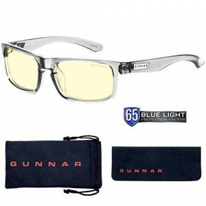 Gunnar Optiks Gunnar anteojos de Sol para Videojuegos (protección de la luz Azul del 65%, luz UV 100%, antirreflectante, para Proteger y Reducir la tensión Ocular y la sequedad), Color Azul