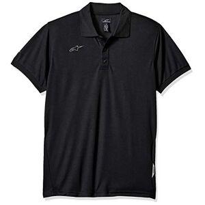 Alpinestars Polo de piqué para Hombre, Vortex Polo Shirt Black, Large