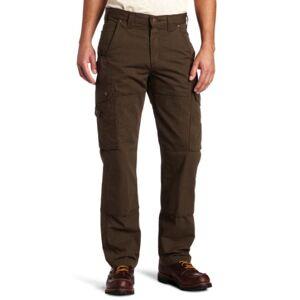Carhartt Pantalones de Trabajo Ripstop Cargo para Hombre, Café Oscuro, 28W x 30L