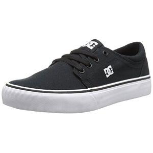 DC Trase TX Skate Shoe,Black/White,2.5 M US Little Kid