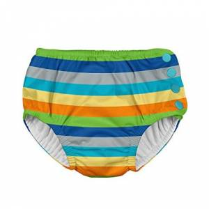 i play.. Mantilla para Nadar, Bebitos, Raya, Gris (Gray/Multi Stripe), 4t