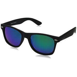 zeroUV anteojos de sol con borde negro mate, Polarizado, goma negra/verde., Talla única