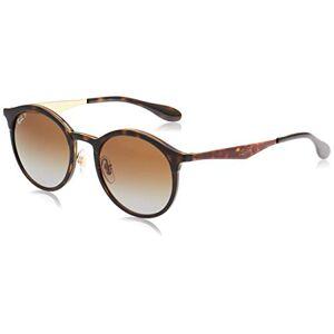 Ray-Ban Emma Polarized Iridium Round Sunglasses, Light Havana, 51 mm