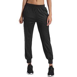 FITTOO Mallas Pantalones Deportivos Mujer Elásticos Transpirables para Yoga Running Fitness Negro Grande