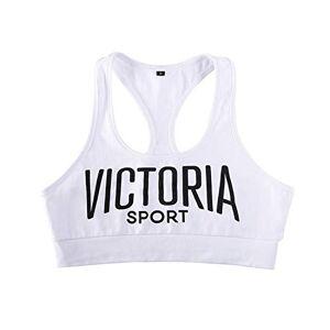 NIHU Beauty Sujetador Deportivo para Mujer, Sujetador de Chaleco, Antigolpes, Forro Fino, sin Aros, para Correr/Yoga/Gym/Pilates (L)