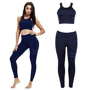 NIHU Beauty Conjunto de Deportivo Yoga para Mujer, Mujer Deportivo Sujetador y Pantalones Yoga, Gimnasio Ropa Chándal Yoga Fitness Deportes Estiramiento (L)