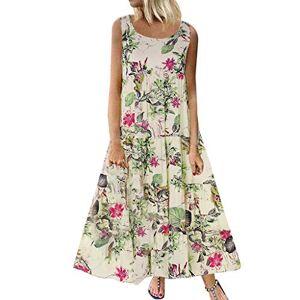 Fartido Womens Dress Fartido Vestidos Largos sin Mangas de Chaleco de Verano, Vestido Largo Casual, Vestido Estampado Vintage de Mujer 'S