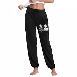 AXIAO Wandering Witch The Journey of Elaina Pantalones deportivos para mujer, Negro, Large
