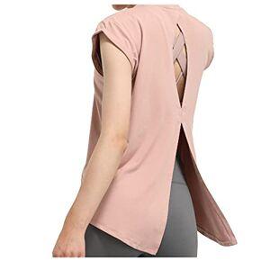 N\C Camisetas deportivas para mujer, color sólido, ajuste holgado, transpirable, para entrenamiento y entrenamiento, Púrpura/Ombre Force., X-Large-XX-Large