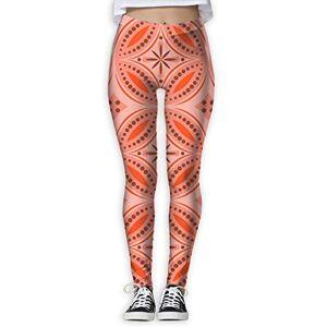 YOIGNG Pantalones de Yoga marroquíes Tiles para Mujer con Estampado de Jegging de Color Capris, Blanco, XL