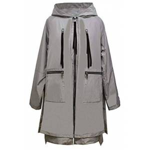 Gallery Chaqueta Impermeable con Capucha para Mujer, Pale Sage, L