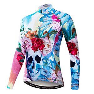 """PSPORT Maillot de ciclismo de las mujeres de ciclismo de manga larga camiseta de ciclismo Top de las señoras de MTB ropa, Cf2006., Chest38.6""""=Tag L"""