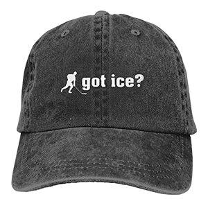 TUEHUX Got Ice Hockey Sombreros para hombres y mujeres, gorra de béisbol vintage, sombrero para playa, papá, sombrero de sol, negro