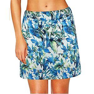 Uppada Falda 2 en 1 para mujer, pantalones cortos de entrenamiento, pantalones cortos de golf, con bolsillos interiores, ropa deportiva, Azul / Patchwork, XL