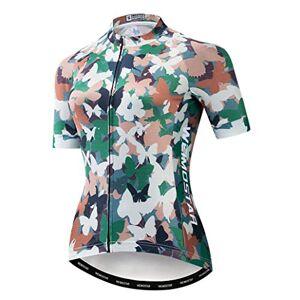 WeimoMonkey Maillot de ciclismo para mujer, camiseta de ciclismo de montaña, camiseta de carreras de equipo, verde (Camouflage Green), M