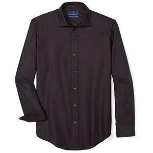 Buttoned Down Buted Down Supima Playera Deportiva de algodón para Hombre, Negro, Medium Short