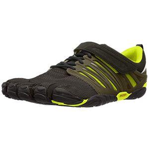 Vibram V-Train Cross-Trainer Zapato para hombre, Negro/Verde, 8.5-9 US