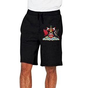 XIAGOU Escudo de Armas de Trinidad y Tobago Verano Hombre Pantalones Cortos Deportivos Correr Pantalones de Cinco Puntos, Negro, XX-Large
