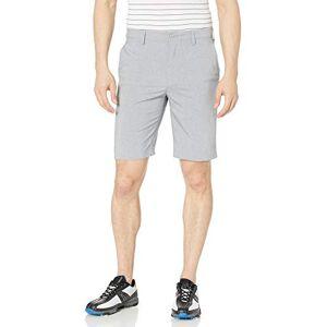 PGA TOUR Pantalones Cortos híbridos de Frente Plano para Hombre, Gris Claro, 38