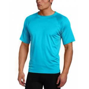 Kanu Surf Men's Big Extended-Size UPF 50+ Solid Rash Guard, Neon Blue, 4X