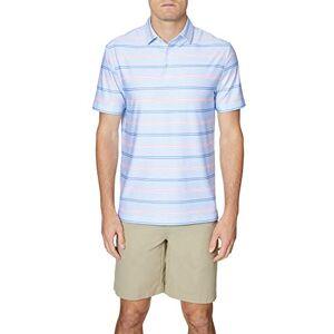 HICKEY FREEMAN Polo de Golf de Manga Corta para Hombre, Azul pálido, Small