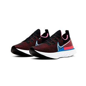 Nike React Infinity Run Fk Cd4371-005 Zapatillas de correr para hombre, Negro/Blanco-Rojo Orbita-foto Azul, 12.5 US