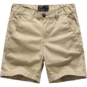 Segindy Pantalones Cortos Sueltos Simples para Hombre Pantalones Cortos de Carga 30
