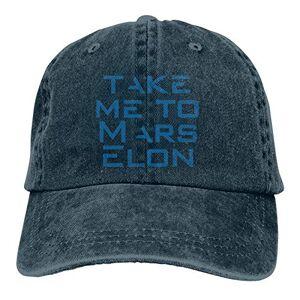 TUEHUX Take Me to Mars, Elon Mu-sk, Space-X Sombrero de papá Gorra de béisbol ajustable unisex sombrero de béisbol azul marino