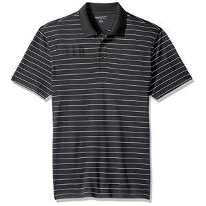 Amazon Essentials Essentials Men's Slim-Fit Quick-Dry Golf Polo Shirt, Black Stripe, X-chico