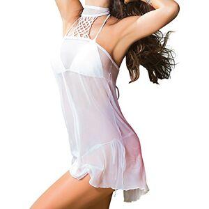 Mapalé by Espiral Cobertor para Nadar con Cuello Halter Transparente y Sexy para Mujer, Blanco, M