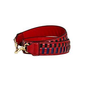 Umily Correa de repuesto para bolso de mano (piel auténtica, ajustable, 4,5 cm de ancho, 110 cm de largo), color dorado, Rojo, M