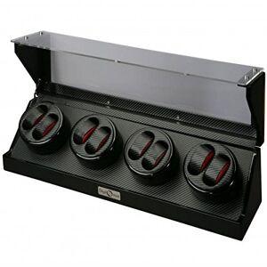 Allurez cubeta para enrollar 8 relojes, color negro brillante