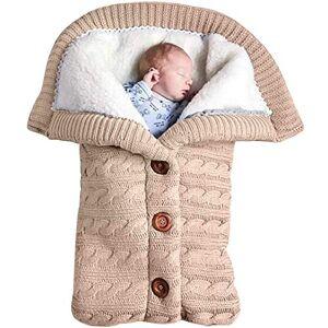 Yinuoday Bebé recién Nacido Manta Swaddle, Fleece Cochecito Envoltura Manta de la Siesta, Suave Manta cálida Swaddle Saco de Dormir Sleep Sack Cochecito (Beige)