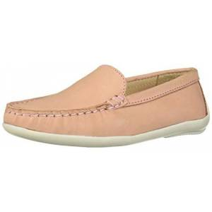 Driver Club USA Unisex Leather Made in Brazil San Diego 2.0 Venetian Driver Loafer, Blush Nubuck, 1 M US Little Kid