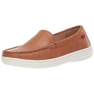 MARC JOSEPH NEW YORK Unisex Leather Boys/Girls Casual Comfort Slip On Moccasin Venetian Loafer Driving Style, Tan Grainy 1.5 M US Little Kid