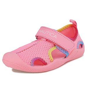 Nautica Kettle Gulf Zapatos de agua protectores, sandalias deportivas con puntera cerrada   Niño  niña (joven/niño grande/niño pequeño/bebé), Malla rosa arco iris, 21 MX Niño pequeño