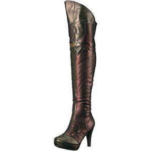 Ellie Shoes 414-Wonder Bota para Mujer, Rojo, 7 US
