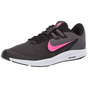 Nike Downshifter 9 Tenis para Mujer, Negro/Láser Fucsia Gris Oscuro, 10