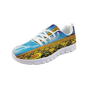 GULTMEE Zapatillas Ligeras para Correr, expresando Amor afecto, Buena Amistad, Mensaje de Texto, Tema de comunicación, Zapatos Deportivos de Malla de Aire, Mujeres y Hombres, Multicolor 3, 11